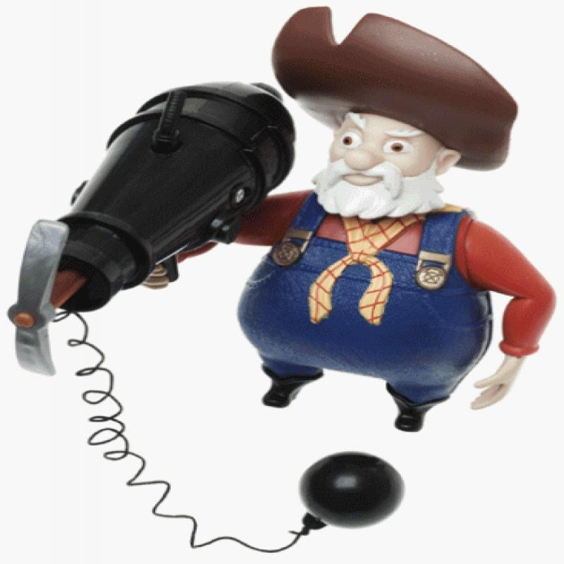 Toy Story Stinky Pete Shifty Shootin' Prospector (1999) by