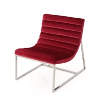 Felicia Parisian Modern Velvet Sofa Chair Ruby