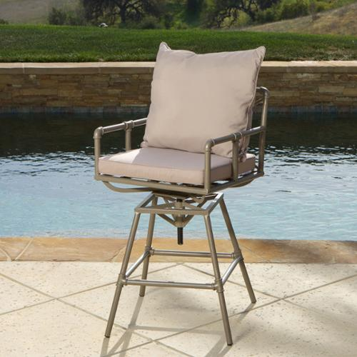 Redondo Pipe Outdoor Adjustable Barstool
