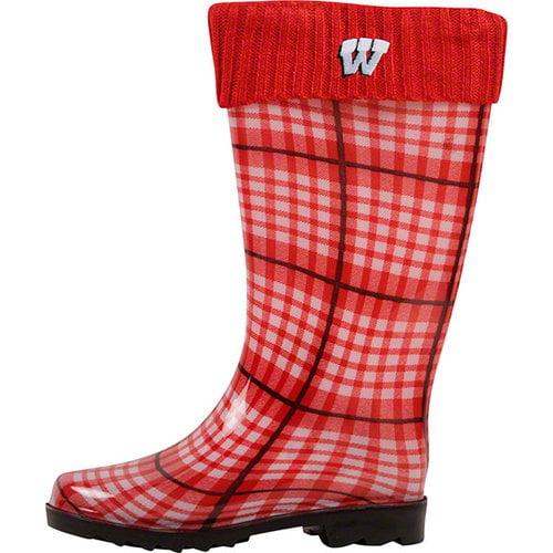 NCAA - Wisconsin Badgers Women's Rain Boots