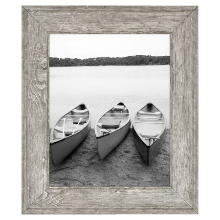"Mainstays 8"" x 10"" Tabletop Picture Frame, Rustic Gray"