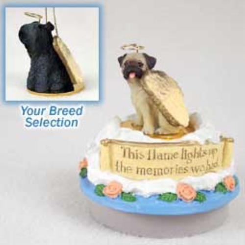 Kerry Blue Terrier Candle Topper Tiny One Pet Angel Ornament