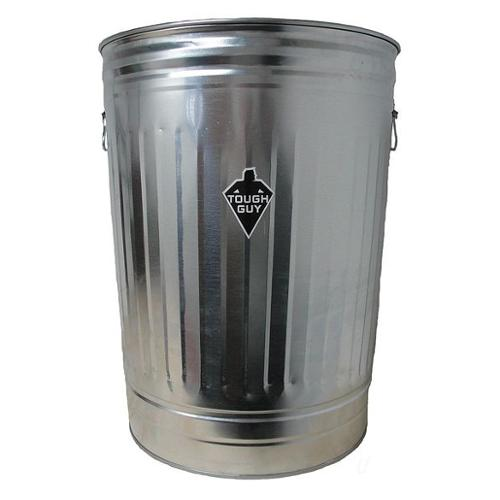 Tough Guy 2PYW6 Silver Galvanized Steel 31 gal. Utility Container
