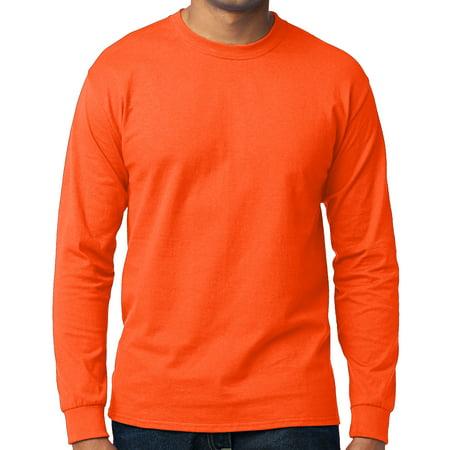 b7aa1934b Buy Cool Shirts - Men's High Visibility Long Sleeve T-shirt - Neon Orange,  Large - Walmart.com