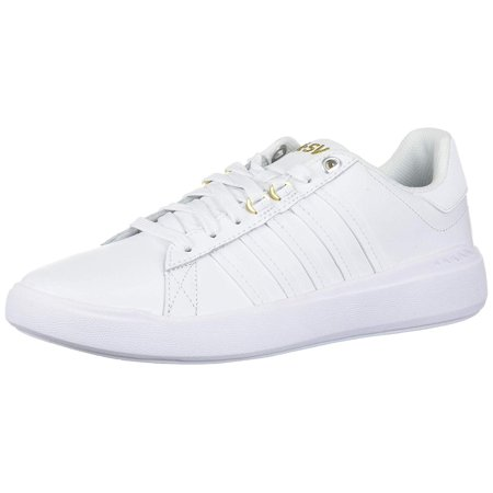 d61871e5102f0 K-Swiss Women's Pershing Court Light Cmf Sneaker, White/Gold, Size 10.0
