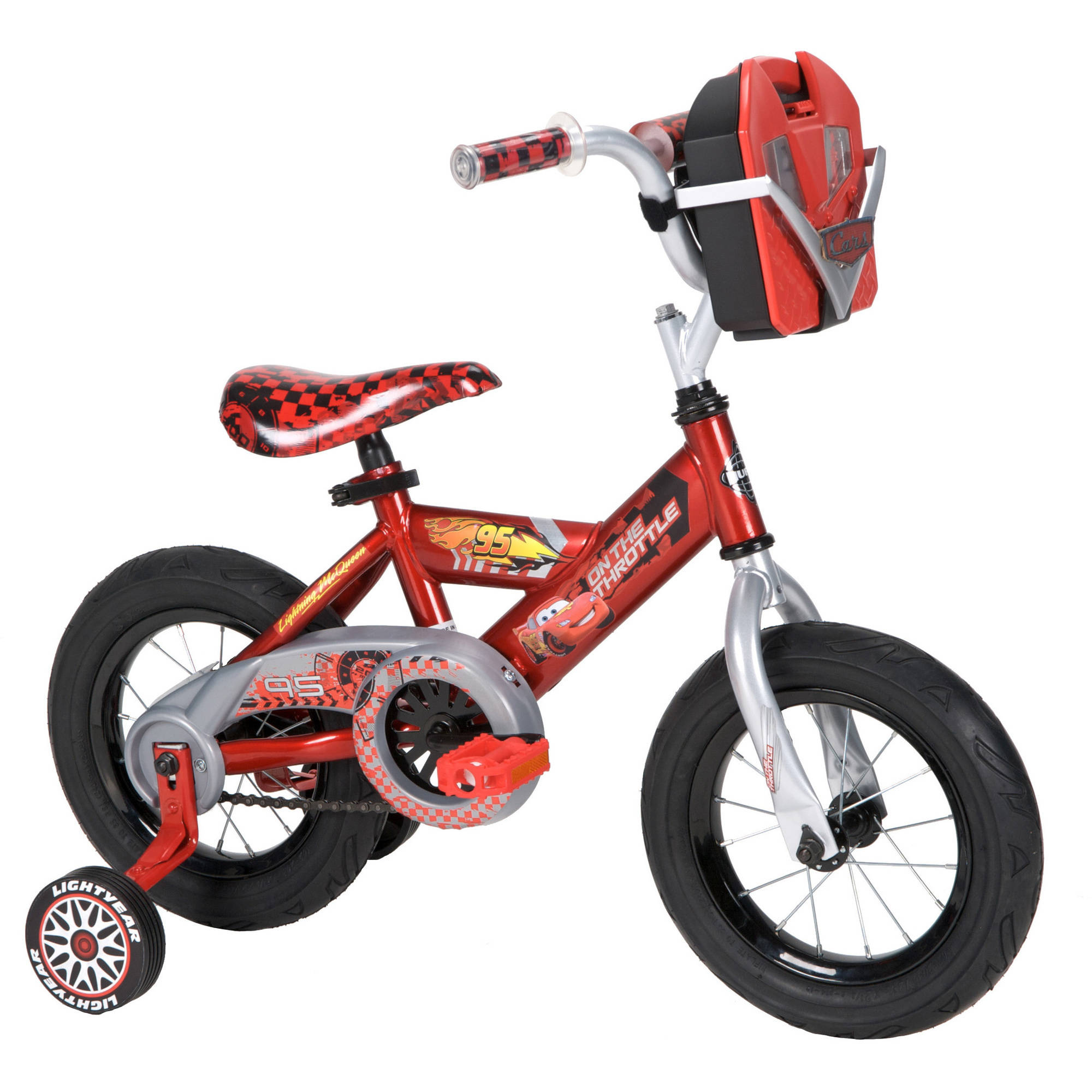 "12"" Huffy Disney Cars Boys' Bike with Tool Kit"