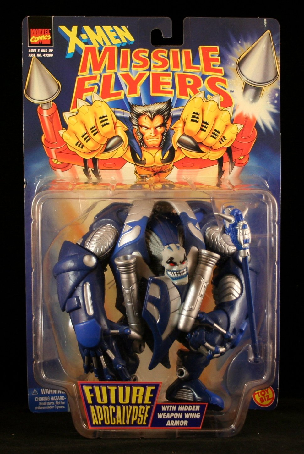FUTURE APOCALYPSE with Hidden Weapon Wing Armor X-Men Missile Flyers Action Figure by Toy Biz