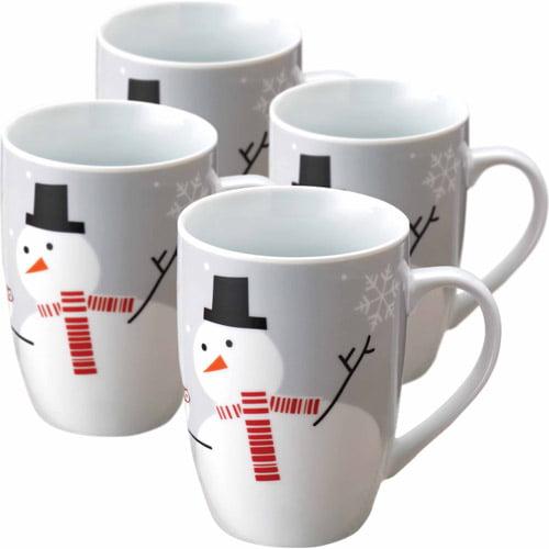 Rachael Ray 4pc 11-oz Mugs, Little Hoot and the Snowman