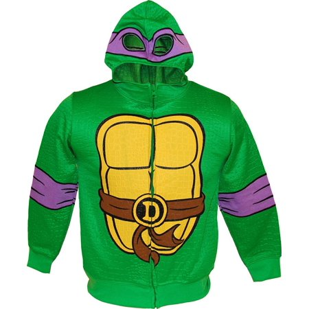TMNT Teenage Mutant Ninja Turtles Reptilian Print Boys Costume Hoodie - Tmnt Costume Kids