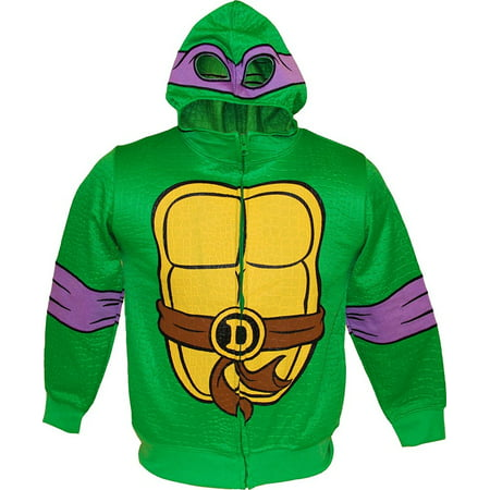 TMNT Teenage Mutant Ninja Turtles Reptilian Print Boys Costume Hoodie](Tmnt Leonardo Costume)