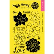 """Waffle Flower Crafts Clear Stamps 4""""x6""""-"""