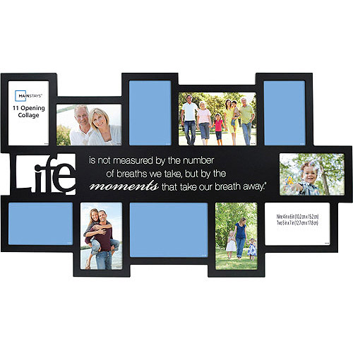 Mainstays 11-Opening Expressions Collage Frame, Black