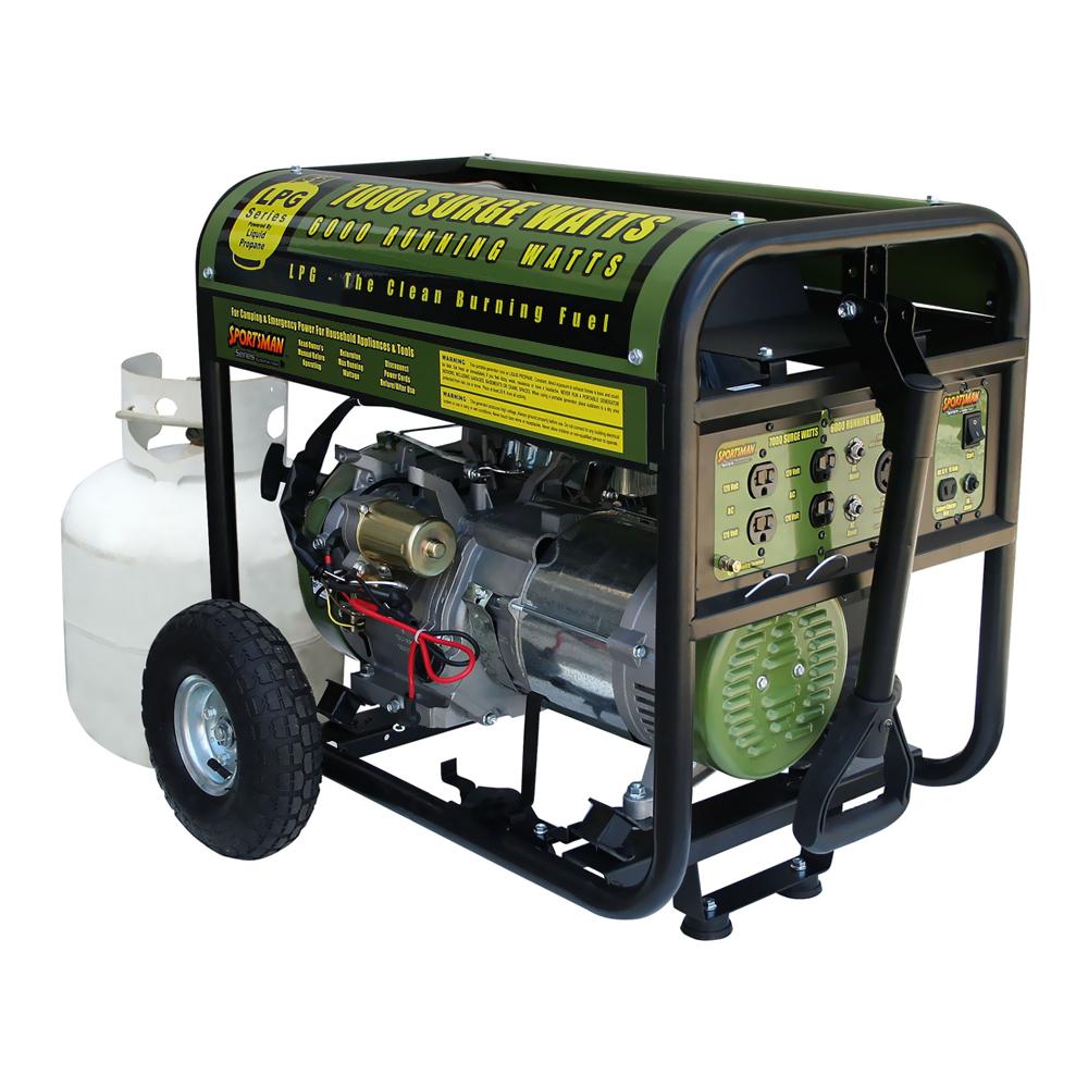 Offex 7000 Watt Portable Electric Start Propane Generator - Green