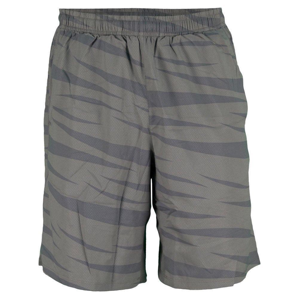 asics men's 2-n-1 tennis shorts - black & gray