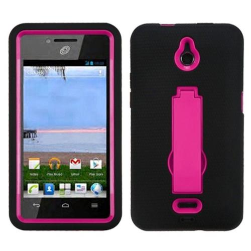 Insten Hot Pink/Black Symbiosis Stand Case For HUAWEI Ascend Plus H881C