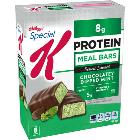Kelloggs Special K Protein Chocolatey Dipped Mint Dessert Inspired Meal Bar  1 59 Oz  5 Count