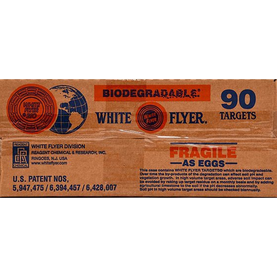 White Flyer Biodegradable Targets, Orange, 90pk - Walmart com