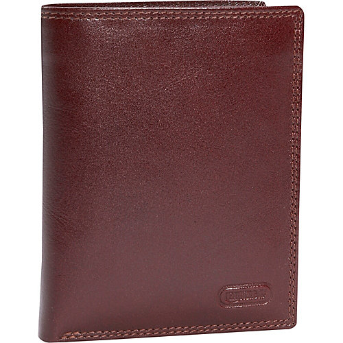 Leatherbay Double Fold Leather Wallet w/Detachable ID Window