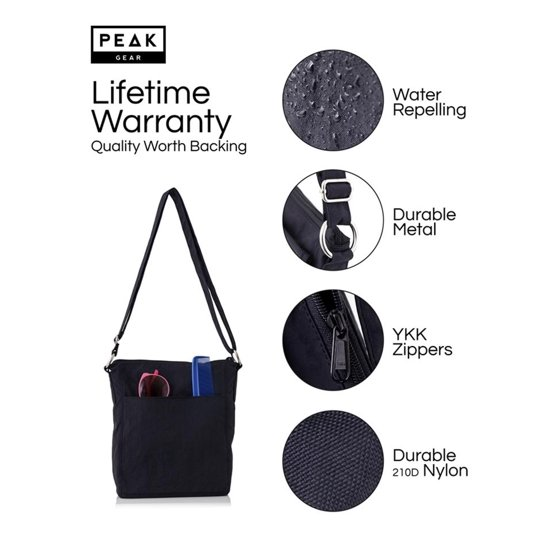 f75be9a70 Travel Crossbody Purse - Hidden RFID Pocket - Includes Lifetime Lost & Found  ID - Walmart.com