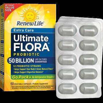 Renew Life - UF Extra Care GoPack 50 Billion 60 vcap