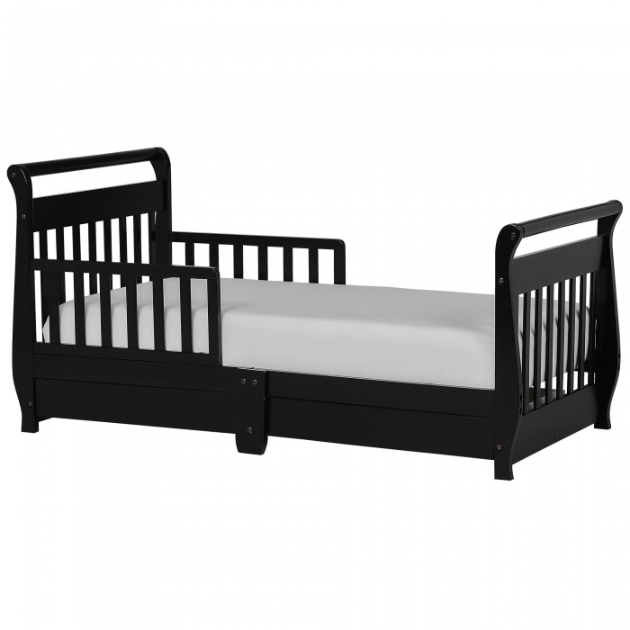 Dream On Me Toddler Sleigh Bed with Storage Black  sc 1 st  Walmart & Dream On Me Toddler Sleigh Bed with Storage Black - Walmart.com