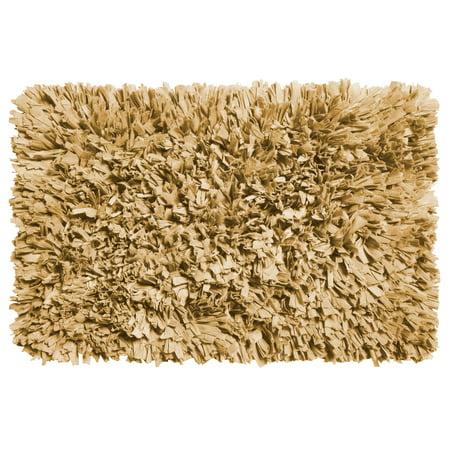 Paper Shag Cotton / Poly Blend Bath Mat, Dark