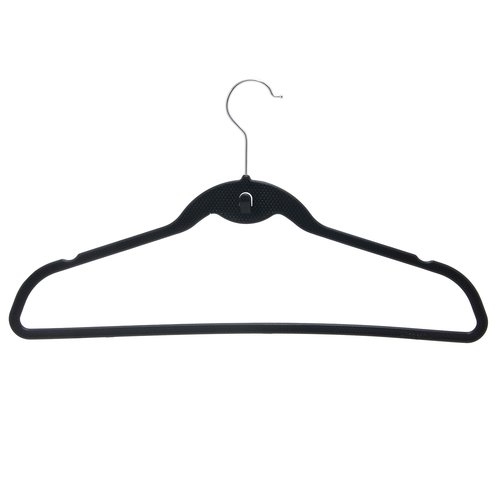 Steel Swivel Hooks Set of 10 BriaUSA Dry Wet Clothes Hangers Amphibious Light Blue with Non-Slip Shoulder Design