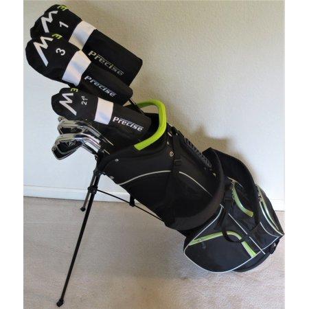 Mens Complete Golf Set - Right Handed Clubs Driver, Fairway Wood, Hybrid, Irons, Putter, Stand Bag Regular Flex