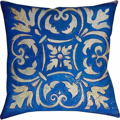 IDG Blue Mosaic Indoor Pillow