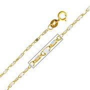 Precious Stars SEC0265200 Yellow Gold 1. 1 mm.  Twisted Snail Chain 20 inch Necklace