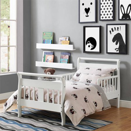 Baby Relax Sleigh Toddler Bed, White - Walmart.com