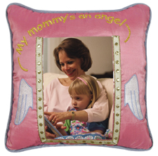 10X10 Inches  SILK Picture Pillow, MY MOMMY'S AN ANGEL