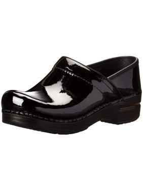 Dansko Womens Professional Clog Closed Toe Clogs, Black Patent, Size 5.5
