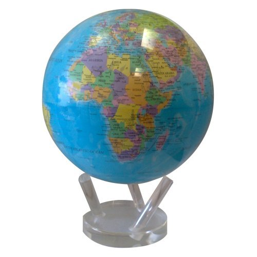 Mova Blue 8.5 diam. in. Natural Earth Globe with Political Map by TurtleTech Design Inc