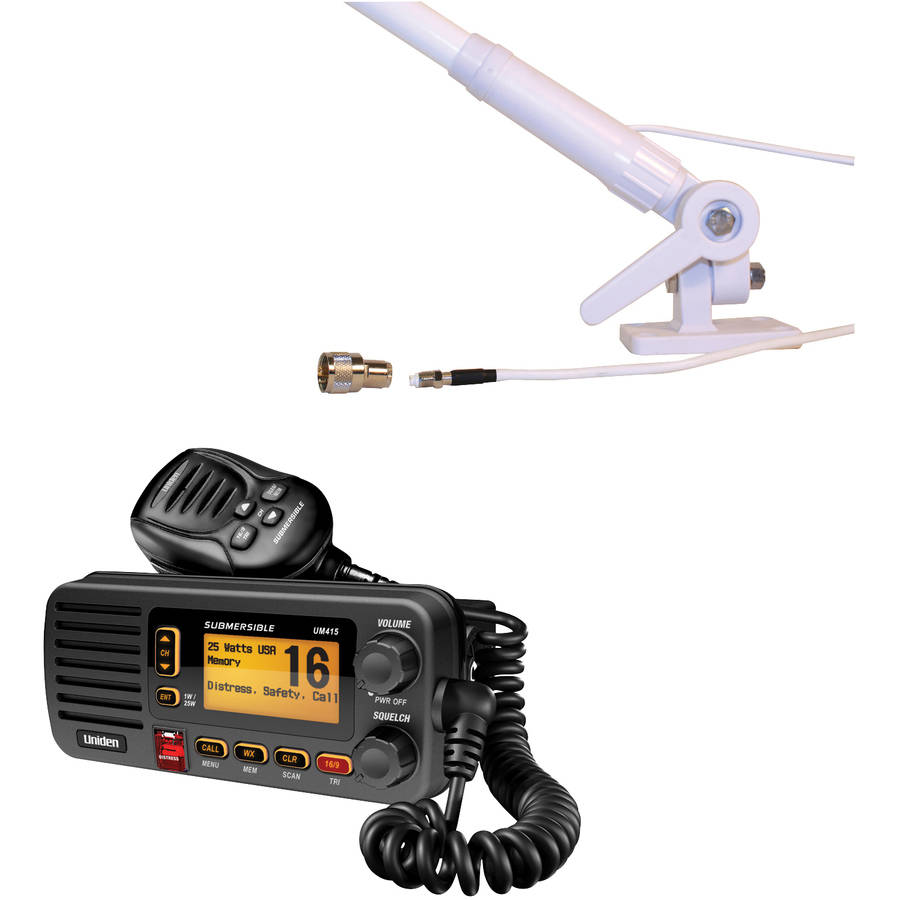 Click here to buy Uniden UM415BK Oceanus D Marine Radio and Tram 1673 AIS VHF 4.1DBD Gain Marine Antenna, Black by Uniden.