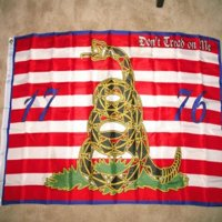 3ft x 5ft First Navy Jack Don't Tread on Me 1776 Tea Party Flag by Ruffin