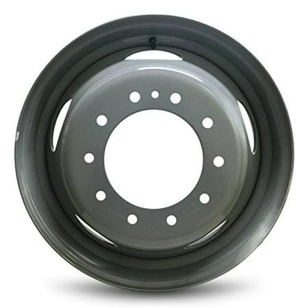 New 19.5x6 Dodge Ram 4500 (08-16) Ram 5500 (08-16) Truck 10 Lug 5 Slot DRW Dually Gray Steel Wheel OEM Replica Replacement Rim ()