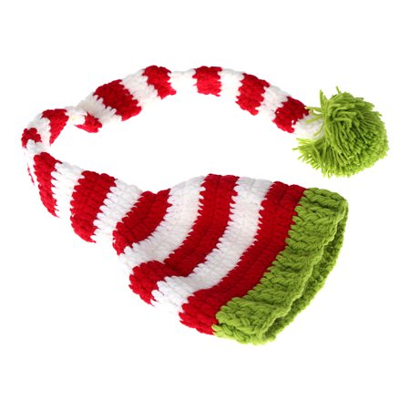 Baby Infant Elf Bernat Hat Cap Long Tail Crochet Knitting Costume Soft Adorable Clothes Photo Photography Props for Newborns](Elf Caps)