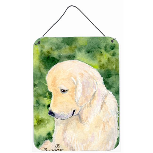 Carolines Treasures SS8757DS1216 Golden Retriever Aluminium Metal Wall Or Door Hanging Prints - image 1 de 1