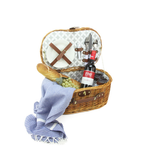 Northlight Seasonal Picnic Basket Set