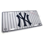 SmallAutoParts Aluminum License Plate - Yankees