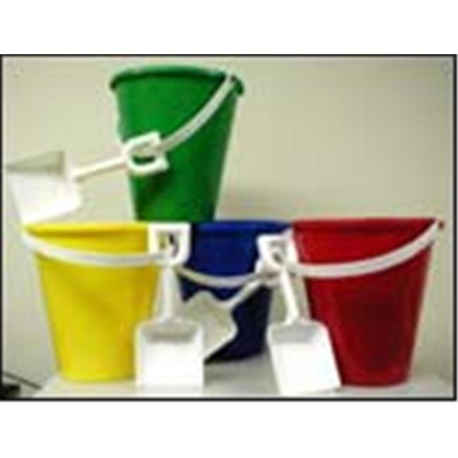 Blinky 77071 - Large Sand Pail And Shovel - Vivid - Assorted - White Handle-Shovel - Pack Of 48