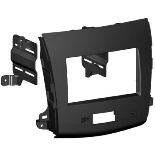 Installation Mounting Kit - SCOSCHE MI3015B 2007-13 Mitsubishi Outlander ISO Double DIN and DIN+Pocket Mounting Dash Kit for Car Radio / Stereo Installation