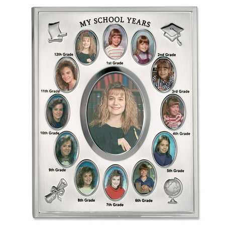 Silver Rim Picture Frame - My School Years Silver Plated 8x10 Multi Picture Frame