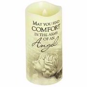 Candle-Flameless-Premier Flicker-Arms Of An Angel w/Timer-Vanilla (6  x 3 )