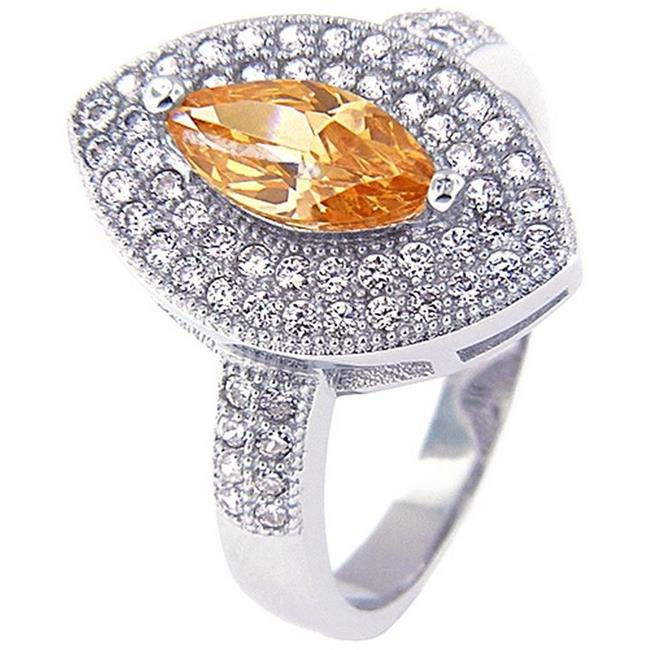 Doma Jewellery SSRZ514CH6 Sterling Silver Ring With Micro Set Cubic Zirconia, Size 6