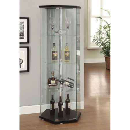 Secretary Curio - Coaster Company Glass Contemporary Curio Cabinet