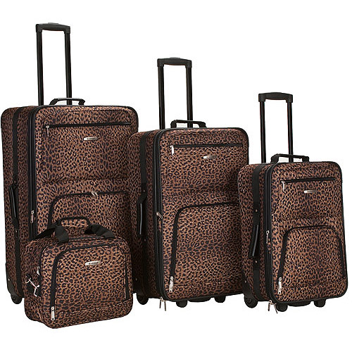 Rockland Luggage Safari 4 Piece Expandable Luggage Set, Multiple Colors