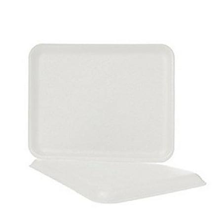 1/2 Inch White Foam Meat Tray - CKF 8SW, #8S White Foam Meat Trays, Disposable Standart Supermarket Meat Poultry Frozen Food Trays, 100-Piece Bundle