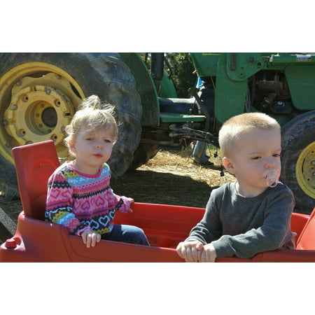 LAMINATED POSTER Farm Kids Tractor Rural Harvest Country Children Poster Print 24 x 36 ()